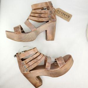 BED STU Adelia Leather Strappy Platform Sandals